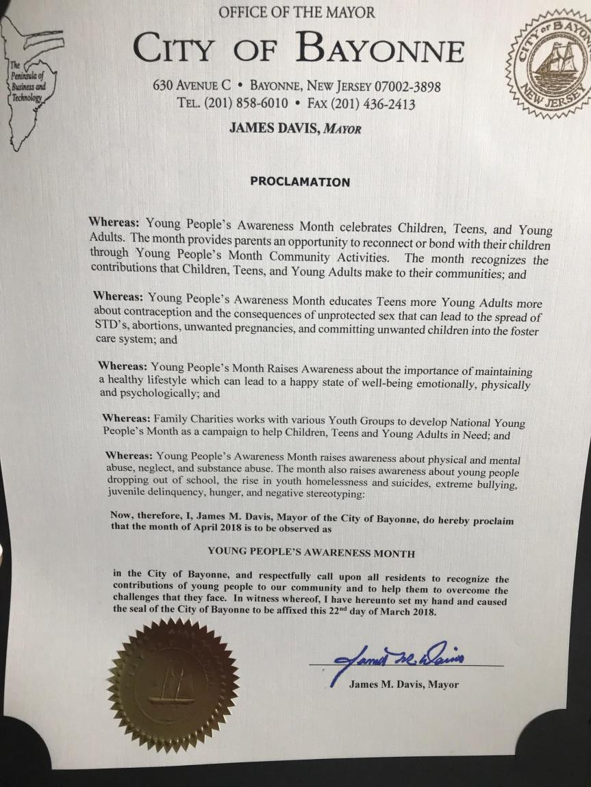 PIX YPAM NJ PROCLAMATION